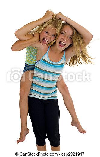 naughty sisters having fun - csp2321947