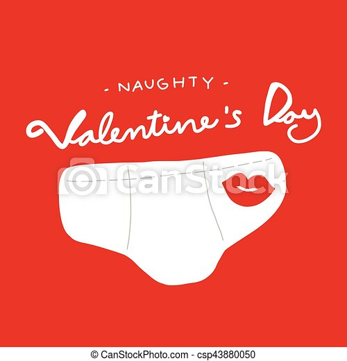 Naughty Valentine S Day Man Underwear Cartoon Illustration