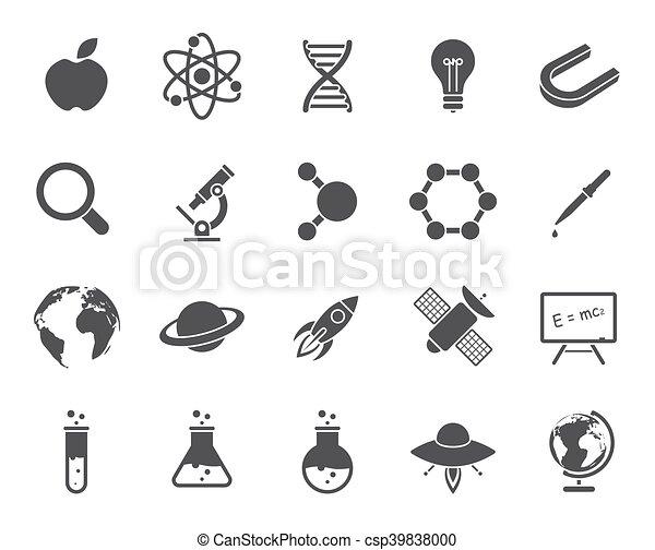 nauka, ikony - csp39838000