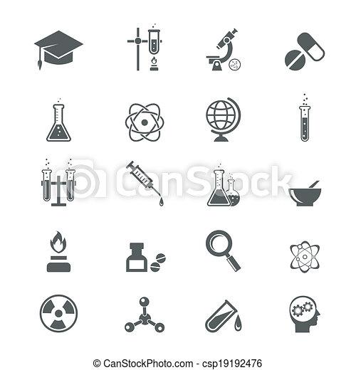 nauka, ikony - csp19192476