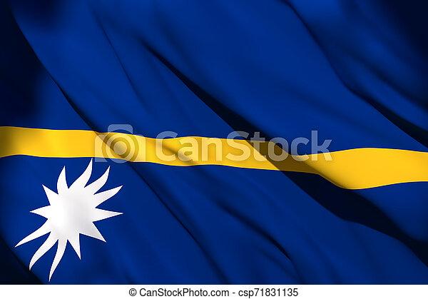 Nauru flag waving - csp71831135