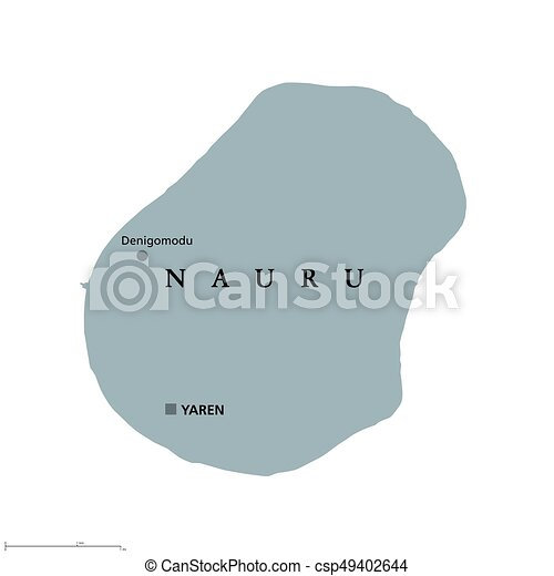 Nauru Political Map With Capital Yaren Formerly Pleasant Eps - Nauru map vector