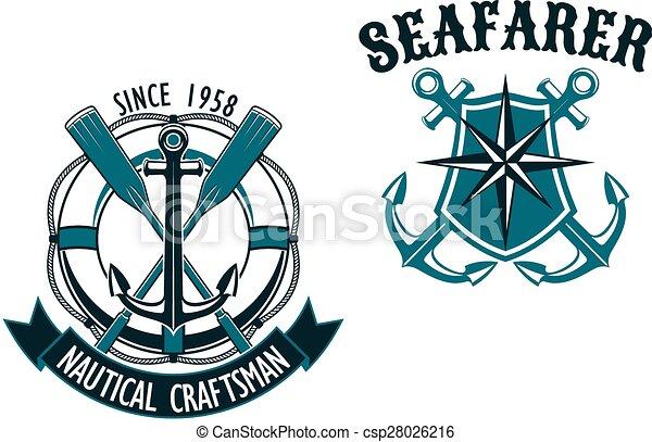nautical and marine themed badges nautical themed badges vector rh canstockphoto com sessa marine logo vector logo marine nationale vectoriel