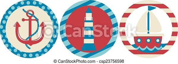 Nautical Icons - csp23756598