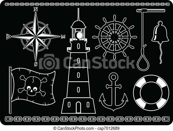 Nautical Icons - csp7012689