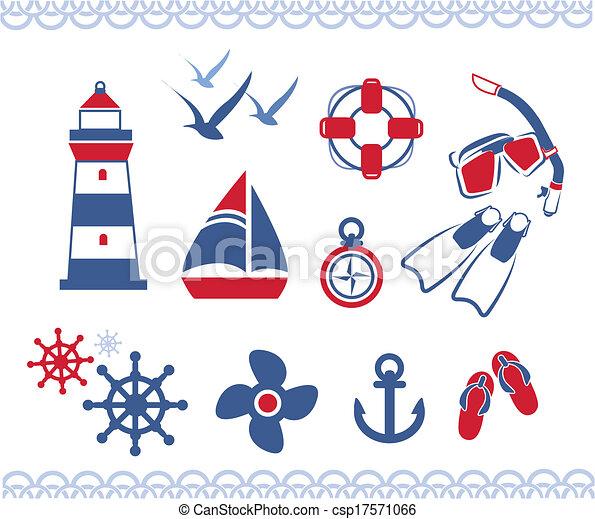 nautique, icônes - csp17571066