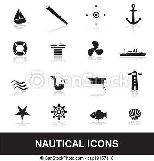 nautisch, eps10, iconen - csp19157116