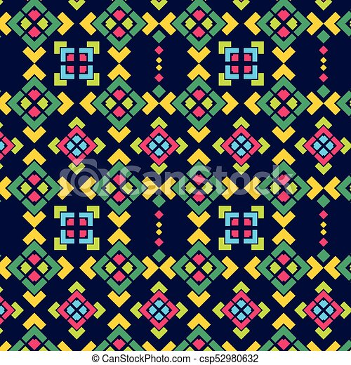 Navajo square pattern - csp52980632