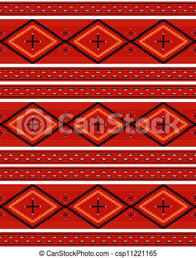 Navajo textile pattern - csp11221165