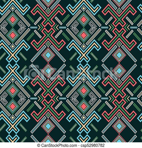 Navajo Vintage Pattern - csp52980782