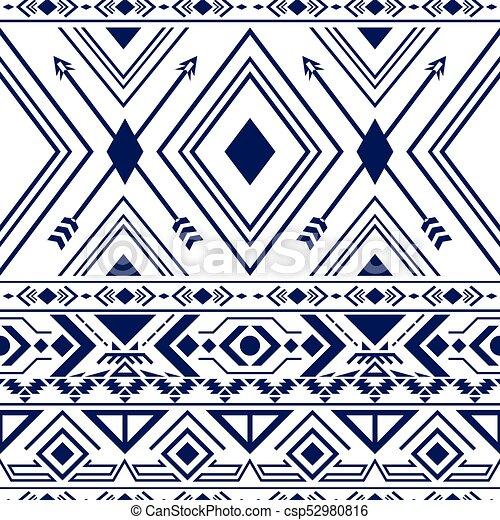 Navajo Vintage Pattern - csp52980816