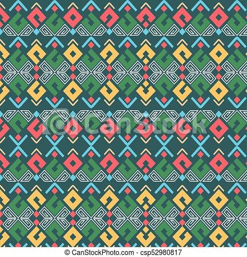 Navajo Vintage Pattern - csp52980817