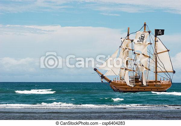 nave, pirata - csp6404283