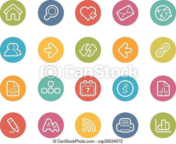 navegación de web, iconos - csp30534072