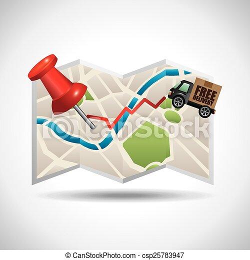 Navegación GPS - csp25783947