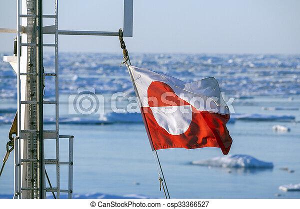 navi, bandiera, groenlandia, -, albero - csp33366527