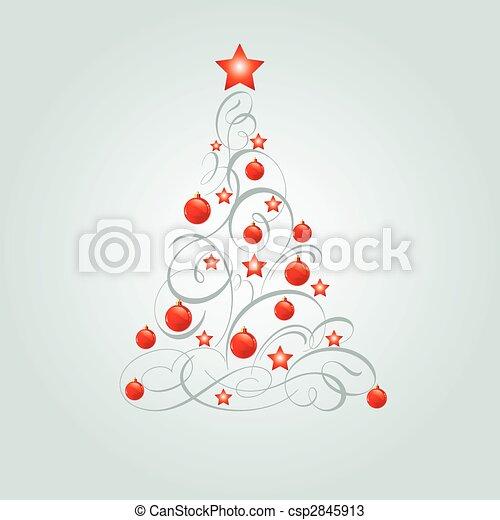 Árbol de Navidad decorado - csp2845913