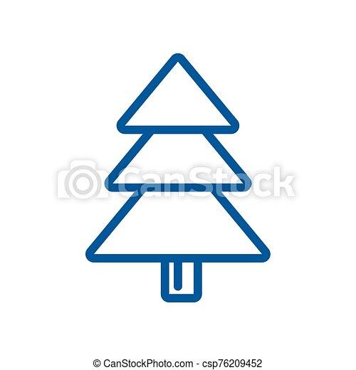 navidad, alegre, icono, árbol, pino - csp76209452