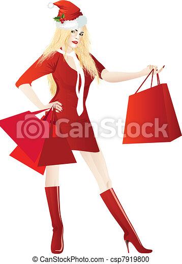 Comprador de Navidad - csp7919800