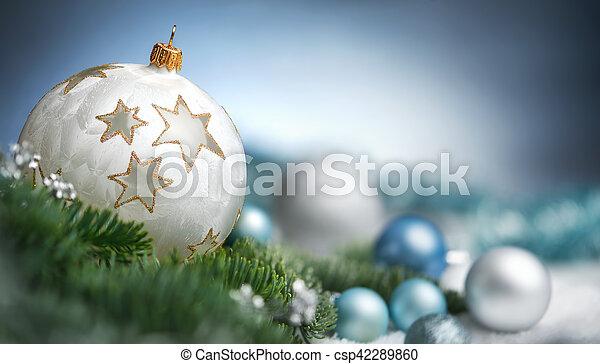 El primer plano de Navidad con espacio de copia - csp42289860