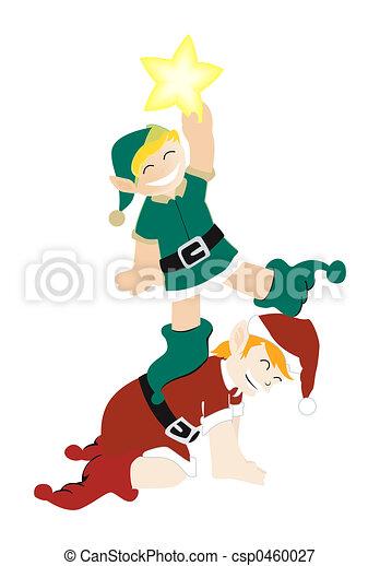 Elfos de Navidad - csp0460027