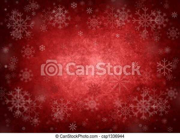navidad, fondo rojo, hielo - csp1336944