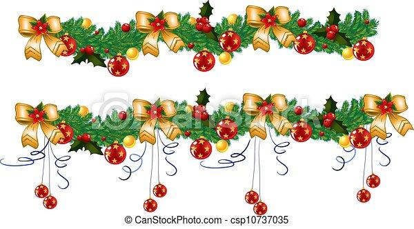 La guirnalda de Navidad - csp10737035