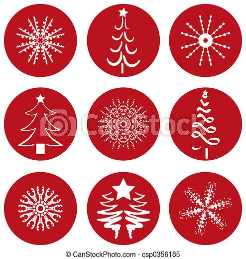 iconos de Navidad - csp0356185