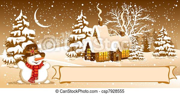 navidad, noche - csp7928555