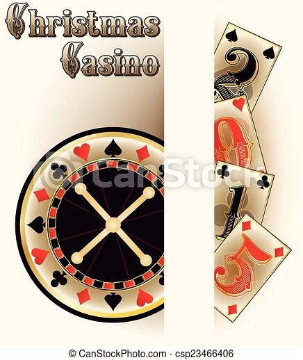 Tarjetas de póker de Navidad - csp23466406
