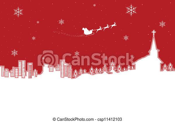 navidad, paisaje - csp11412103