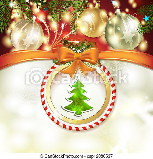 Un pino de Navidad - csp12086537