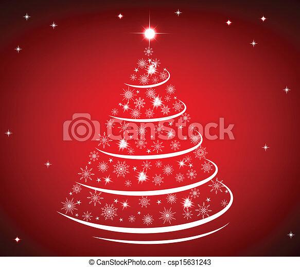 Trasfondo de árboles de Navidad - csp15631243