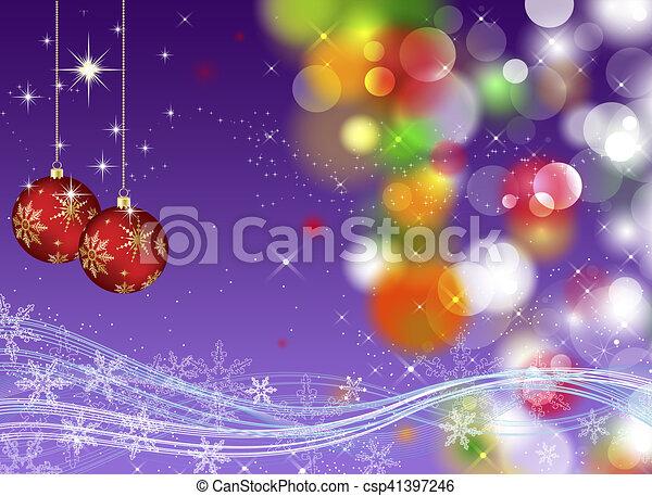 Trasfondo navideño - csp41397246