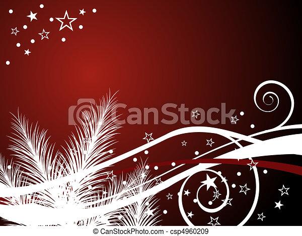 navidad, plano de fondo - csp4960209