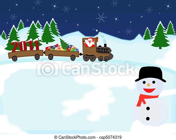 Trasfondo navideño - csp5074319