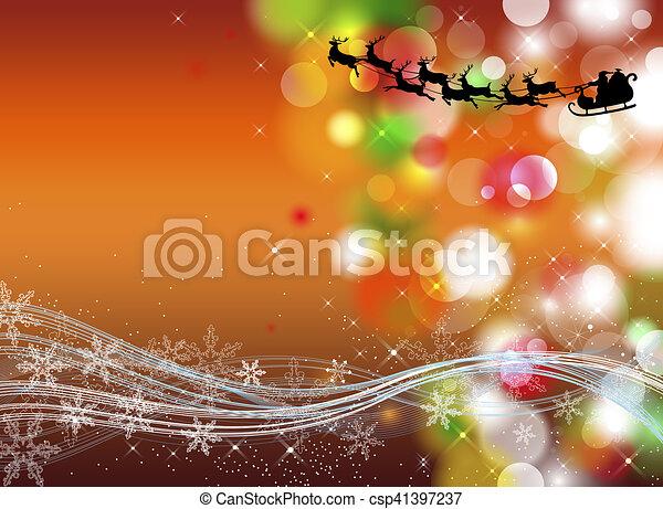 Trasfondo navideño - csp41397237