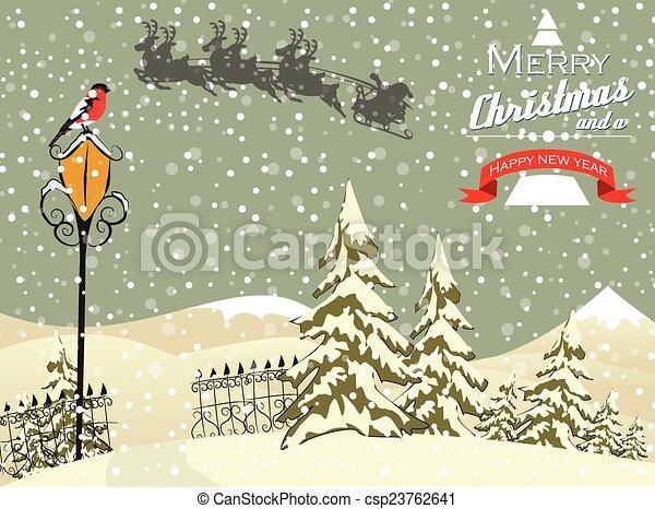 Trasfondo navideño - csp23762641