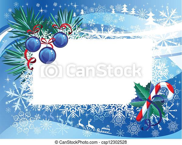 Trasfondo navideño - csp12302528