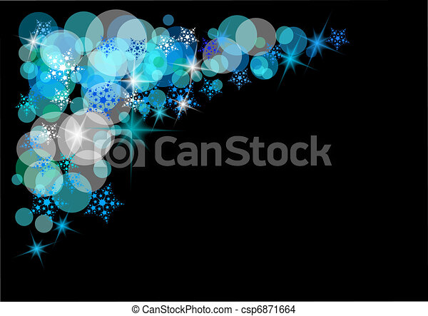 La nieve navideña - csp6871664