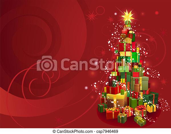 Trasfondo de Navidad Roja - csp7946469