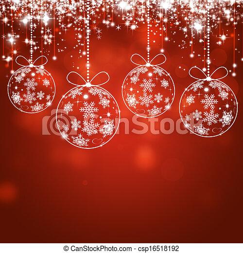 Trasfondo rojo de Navidad - csp16518192