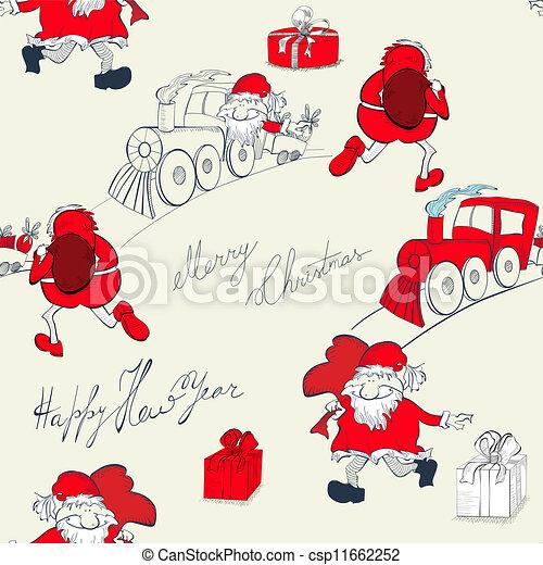 El fondo de Navidad sin costura - csp11662252