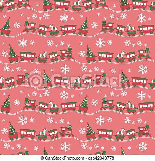 El fondo de Navidad sin costura - csp42043778