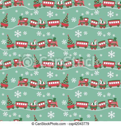 El fondo de Navidad sin costura - csp42043779