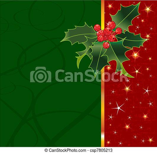 Trasfondo navideño - csp7805213