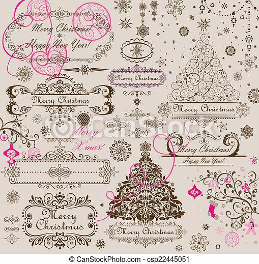 Saludos de Navidad - csp22445051