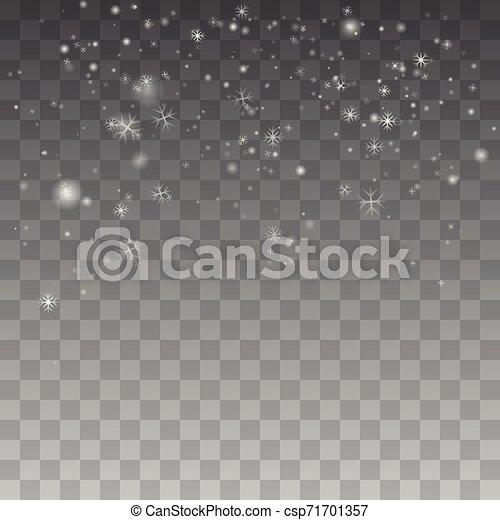 Nieve navideña. - csp71701357