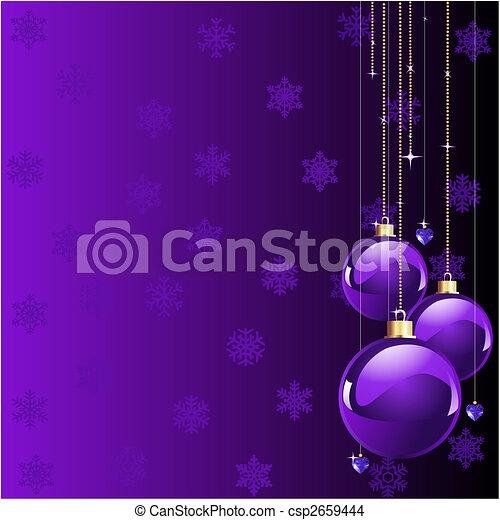 Las violetas colorean la Navidad - csp2659444