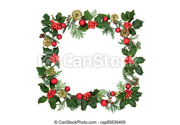 navidad, y, decoración, guirnalda, invierno - csp85636409